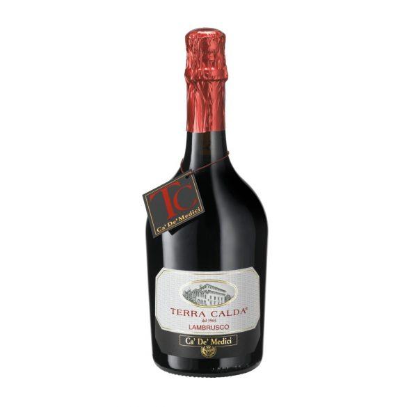 Ca' De' Medici Terra Calda Lambrusco Dell'Emilia - Vino Frizzante Rosso IGT 0,75l - 11,5%