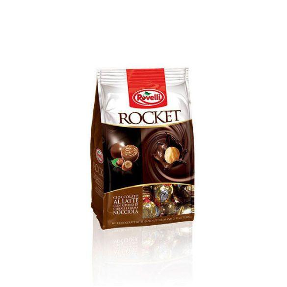 Rovelli Racket Busta Tejcsokoládé Praliné Ropogós Gabonamagokkal és Lágy Mogyorókrémmel 250G