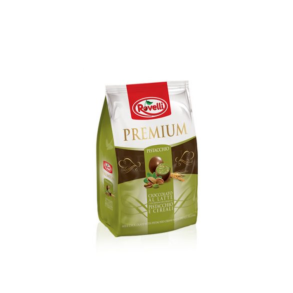 Rovelli Premium Busta Tejcsokoládéba Burkolt Pisztáciadarabok 250G
