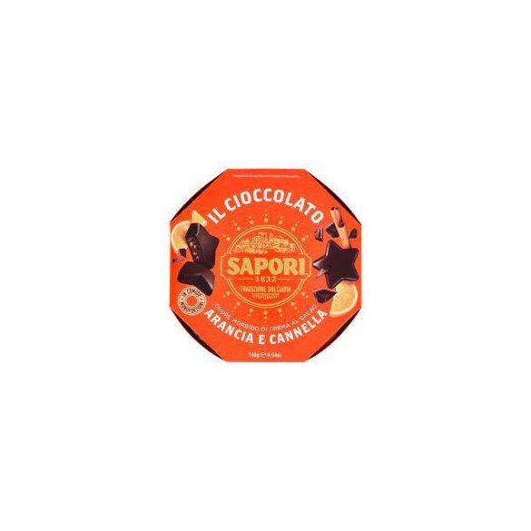 Sapori Kakaó-krémmel Töltött Praliné Narancs és Fahéj Ízesítéssel 140G