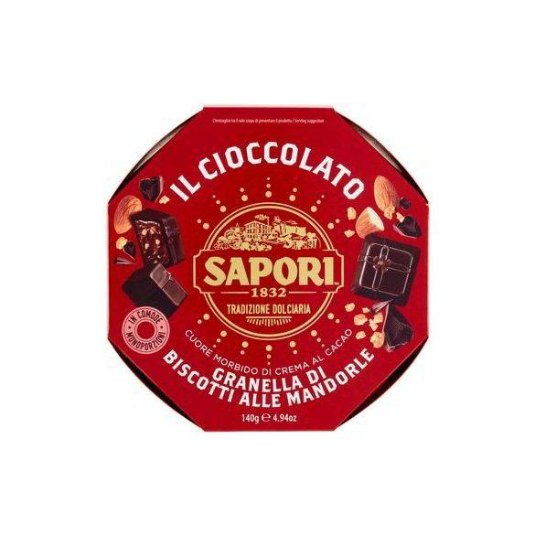 Sapori Kakaó-krémmel Töltött Praliné Mandula-keksz Ízesítéssel 140G