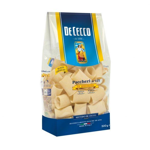 De Cecco olasz hagyományos tölthető kerek tészta / Paccheri no.125 / 500g