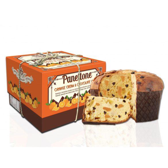 Lazzaroni Narancs Krémmel Töltött Csokoládé Chips-szel Szórt Panettone 750 g