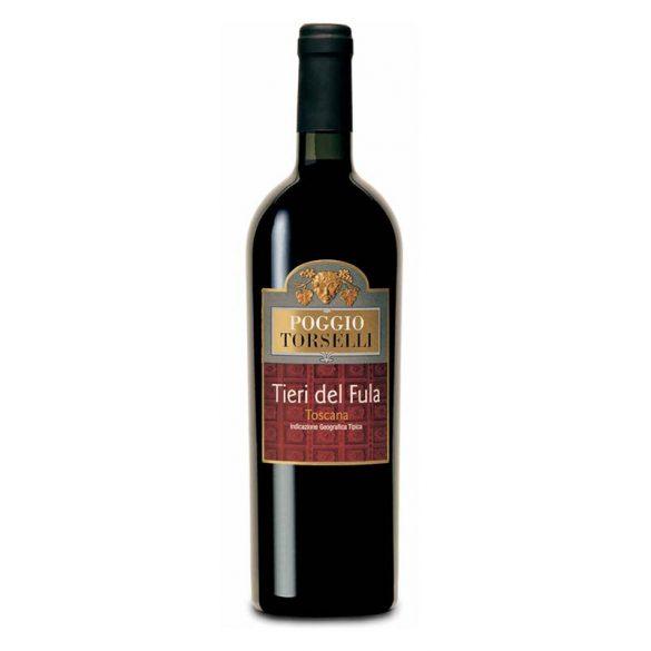 Poggio Torselli Tieri del Fula Toscana Rosso IGT vörösbor 2015 14,5% -  0,75 L / 750 ml
