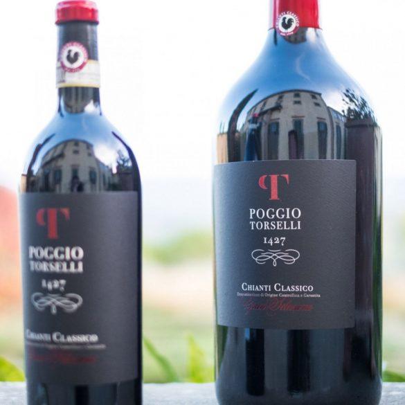 Poggio Torselli Chianti Classico Vörösbor Magnum Palack Fa Díszdobozban 2016 14,5% - 3 L /  3000 ml