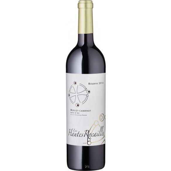 Grands Vins du Saint Chinian Les Hautes Rocailles Merlot-Cabernet Sauvignon IGP Pays d'Oc 2016 Vörösbor 075L / 750ml / 13,0% vol