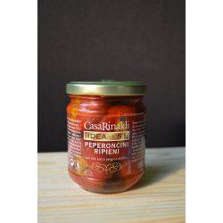 Casa Rinaldi Tonhallal töltött Peperoncini olívaolajban / Stuffed Hot Peppers in Extra Virgin Olive Oil / 190g
