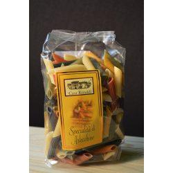 Casa Rinaldi olasz hagyományos 5 színű tollhegy tészta / Penne Rigate Arlecchino, 5 colori / 250g