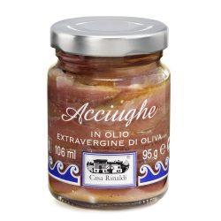 Casa Rinaldi Szardellafilé extra szűz olivaolajban / Acciughe / Anchovy Fillets in Extra Virgin Olive Oil / 95g