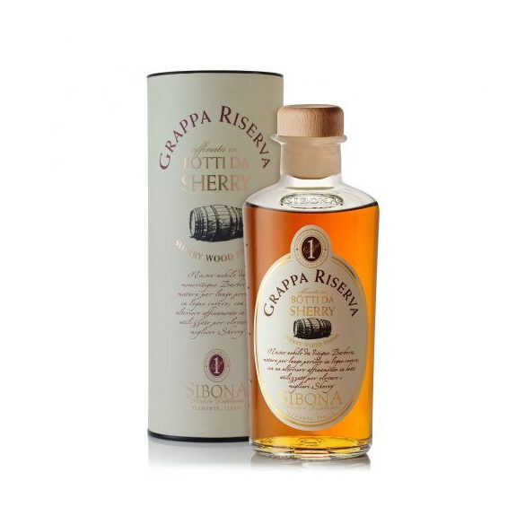 Sibona Grappa Riserva Botti da Sherry 0,5 L / 500 ml 44%