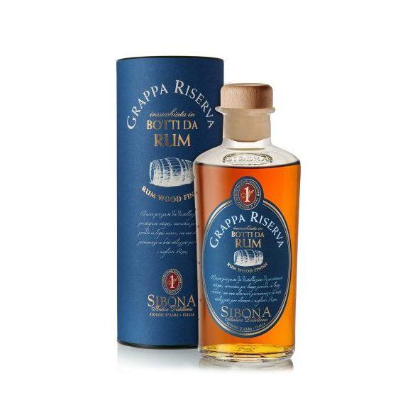 Sibona Grappa Riserva in Botti da Rum 0,5 L / 500 ml 44%