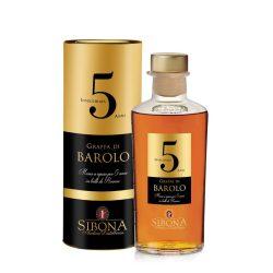 Sibona Grappa Riserva Barolo 5 Anni 0,5 L / 500 ml 44%
