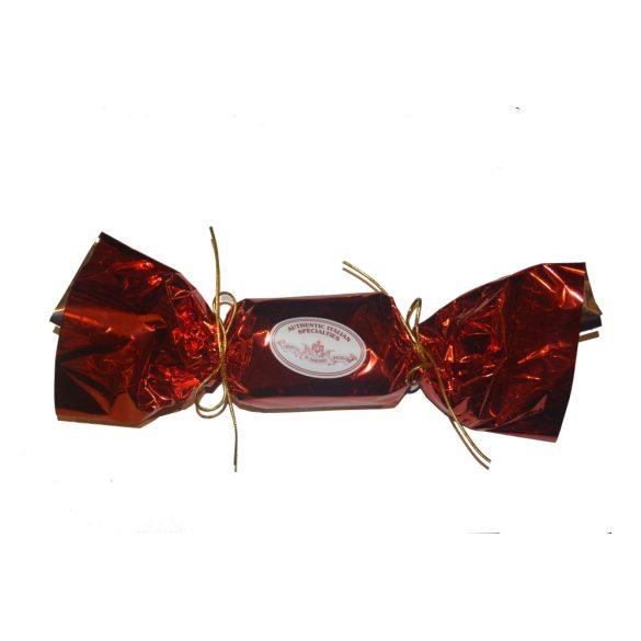 Klasszikus panettone, piros szaloncukor formájú csomagolásban 100 g
